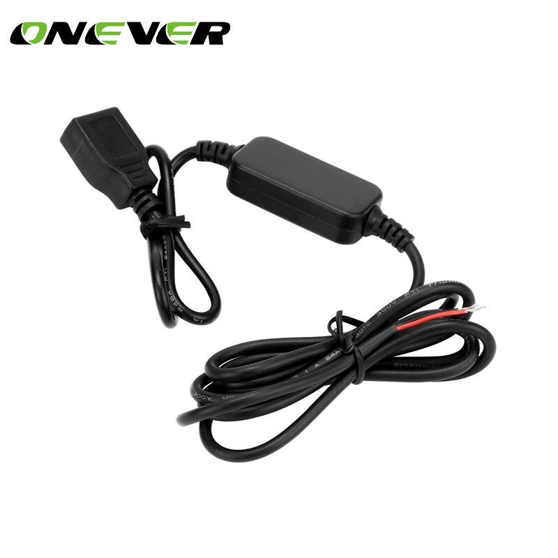 Onever 15W voltaje adaptador USB 12 V a 5 V convertidor inversor 3A convertidor USB Módulo de reducción accesorios de coche
