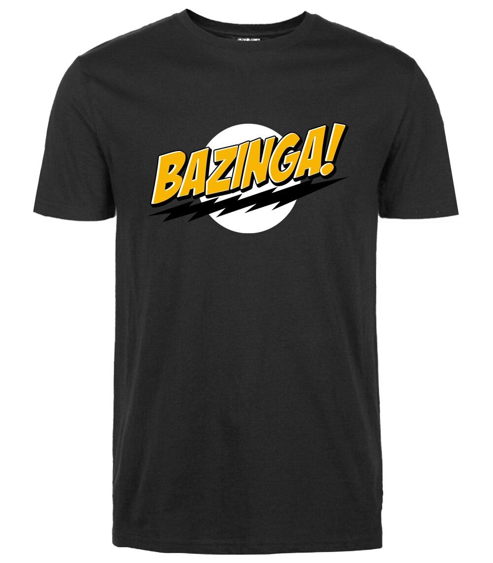 Забавная футболка The Big Bang Theory Bazinga, летняя повседневная Уличная модная мужская футболка, крутая уличная брендовая одежда, 2019