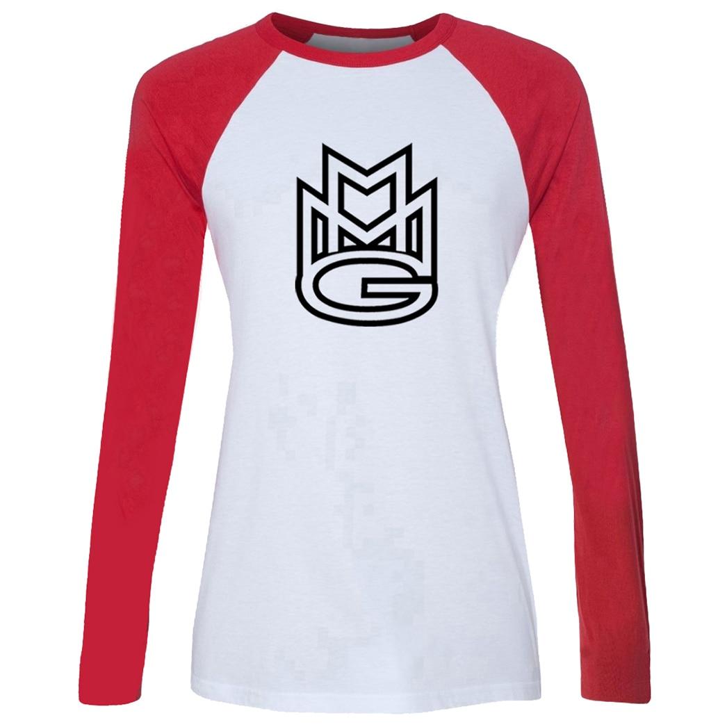 MMG Maybach Hip Hop grupo de música Rick Ross Queens Birthday Design Camiseta de manga larga con estampado de mujer