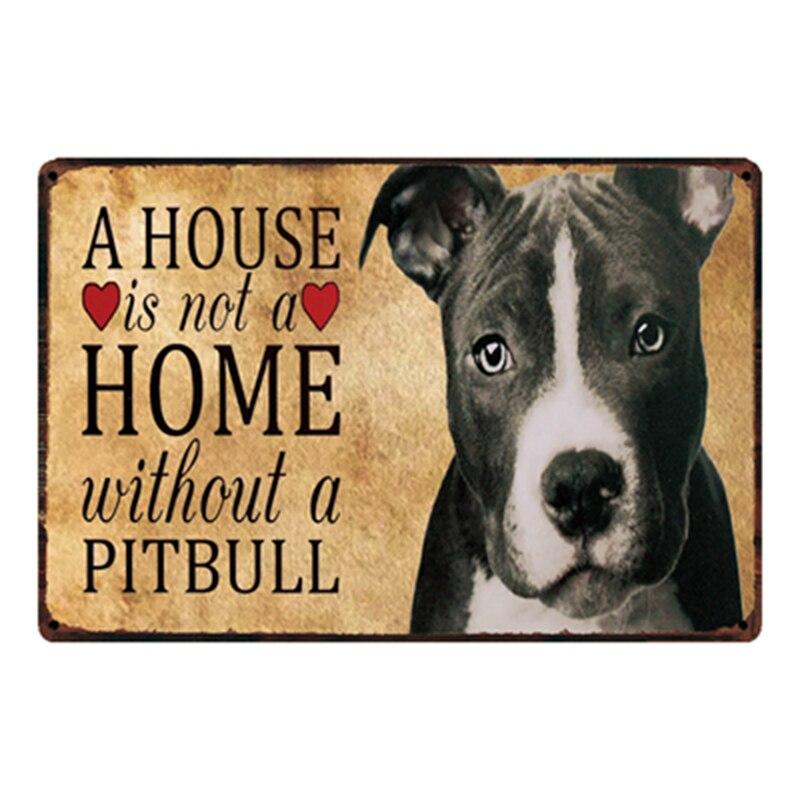 Kelly66, panneau davertissement pour chiens Pitbull, panneau métallique, affiche en étain pour décoration de la maison, peinture artistique murale, 20x30 CM, taille y-2105