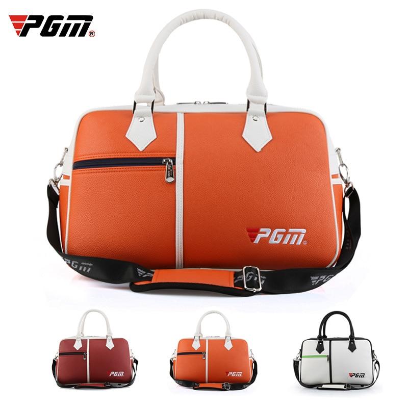 PGM bolsa de Golf portátil de gran capacidad para mujer bolsa de ropa de Golf Litchi Pu bolsa poner Zapatos Ropa YWB017