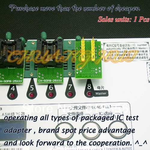 tpc8118 sop8 25XXX eeprom flash Adapter SOP8+SOP8 for SPI-FLASH Programmer Adapter 150mil