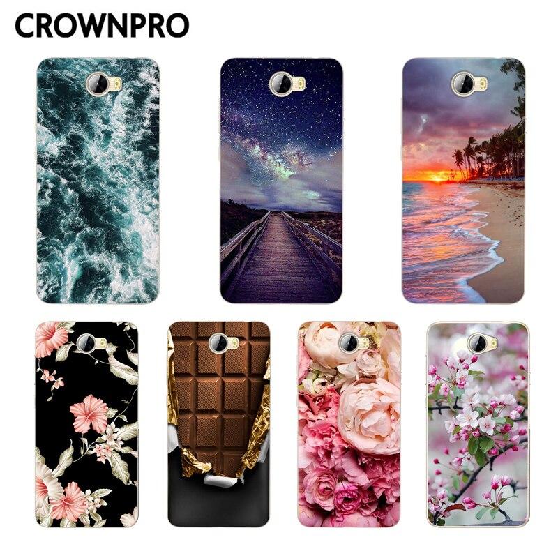 Чехол CROWNPRO для Huawei Y5 II Y5 2/Y6 II Compact/Honor 5A LYO-L21, Мягкая силиконовая задняя накладка из ТПУ для Huawei Y5 II, чехол для телефона