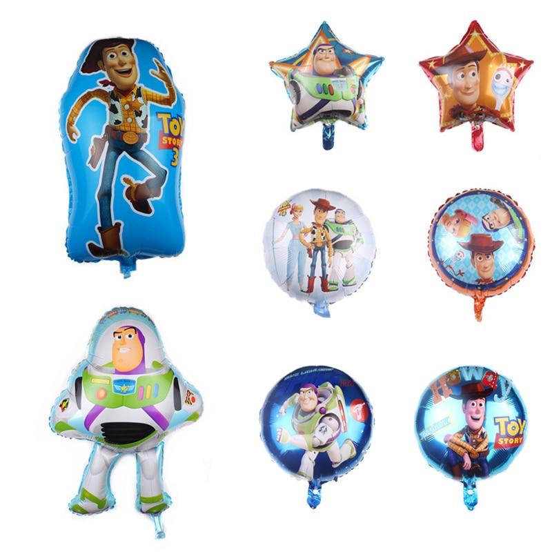 Big Salse Disney Toy Story 4 figura de globo juguetes Forky Buzz Lightyear Woody Bo Peep Forky modelo juguetes niños niñas Decoración de cumpleaños