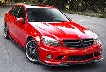 W204-becquet avant à lèvre en Fiber de carbone   Pour C63 AMG 08-10 du Style CS (Fit AMG ou Sport)
