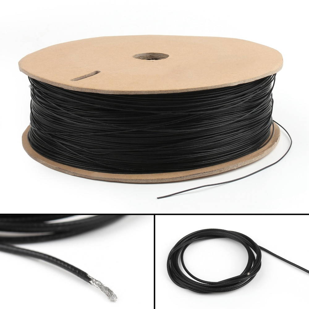 Areyourshop 1,13 1,13mm Mini Coaxial cables de antena Coaxial de Cable de alambre de núcleo único 16ft 5M 50 ohm 1 Uds conector
