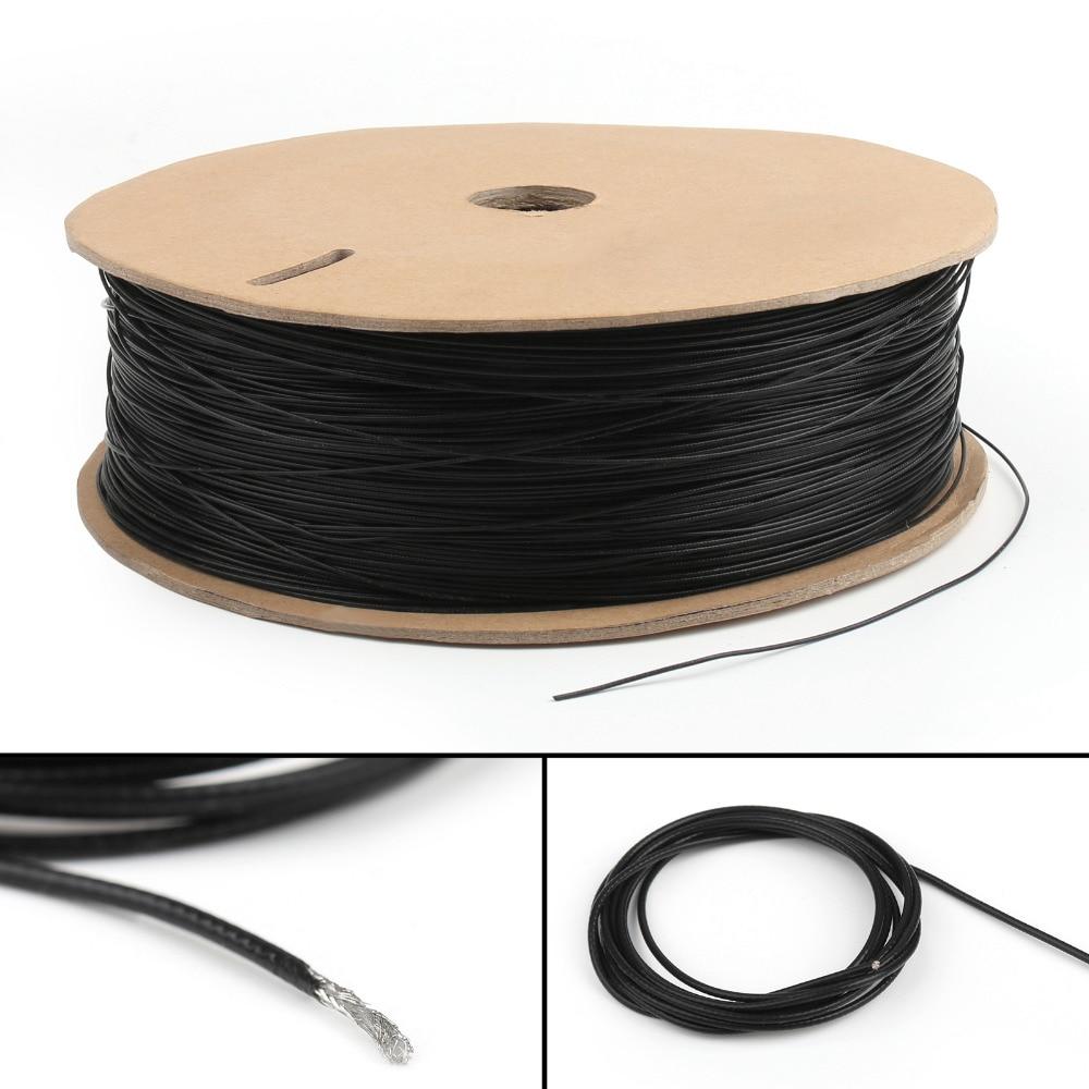 Areyourshop 1.13 1.13mm mini fios coaxiais antena cabo de fio único núcleo 16ft 5 m 50 ohm 1 pces conector