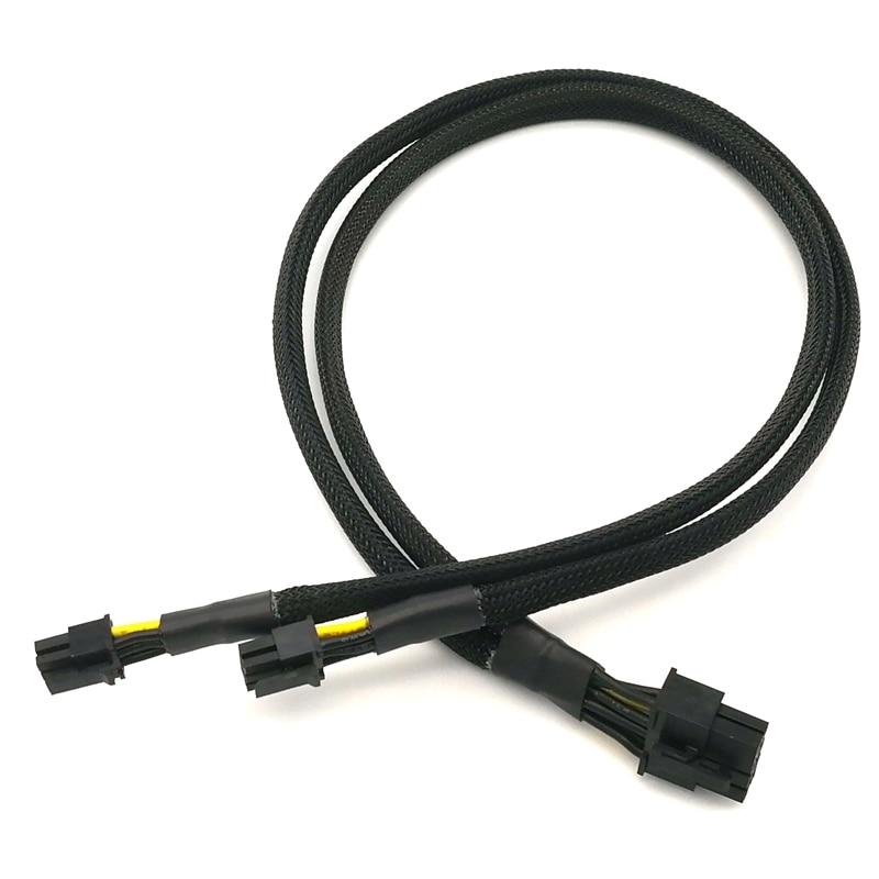Двойной мини PCI-E 6-контактный к стандарту PCI-E 8-контактный кабель питания для видеокарты для Apple G5/Mac Pro-50 см