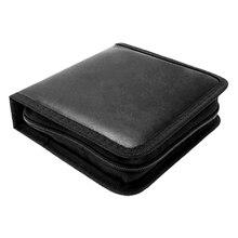 HFES nouveau support de sac de mallette de rangement Portable Rectangle CD noir