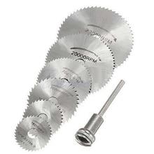7 шт., HSS роторные инструменты, мини дисковые пилы, режущий НАБОР ДИСКОВ, высокое качество, сверлильные оправы, резак, электроинструменты