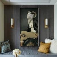Peintures a lhuile retro nostalgique pour homme  affiches et imprimes danimaux  peinture sur toile a la mode pour salon  decoration de maison