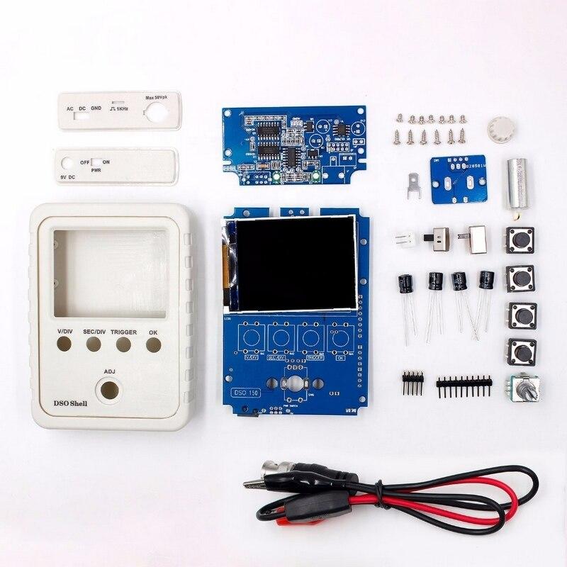 Digital Tecnologia DS0150 Orignal 15001 K DSO-SHELL (DSO150) Kit com Caso Da Habitação Caixa de Kit DIY Osciloscópio Digital