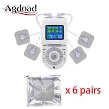 Electroestimulador Muskel 12 Modi Zehn Einheit Elektrische Körper Schmerzen Relief Massage Maschine 4 Elektrode Pads Zehn Maschine Kabel