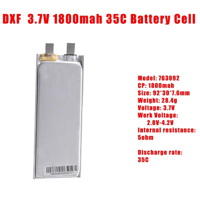 2017 DXF 3,7 В 1S 1800 мАч 35C батарея, батарея max60C lipo, вертолет, Дрон, батарейка