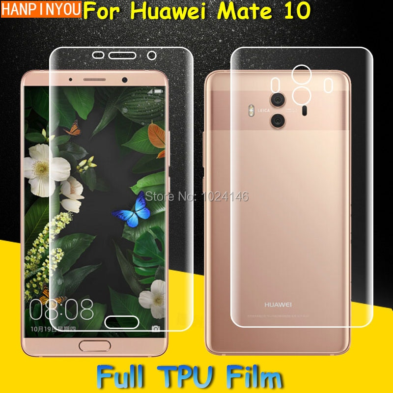 Front / Back Full Coverage Clear Soft TPU Film Screen Protector For Huawei Mate 10 Mate10 5.9