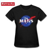 Espace rétro X T-Shirt Elon musc t-shirts femmes SpaceX lourd Falcon T-Shirt StarmanX occuper à la Mars t-shirts Tesla Roadster hauts