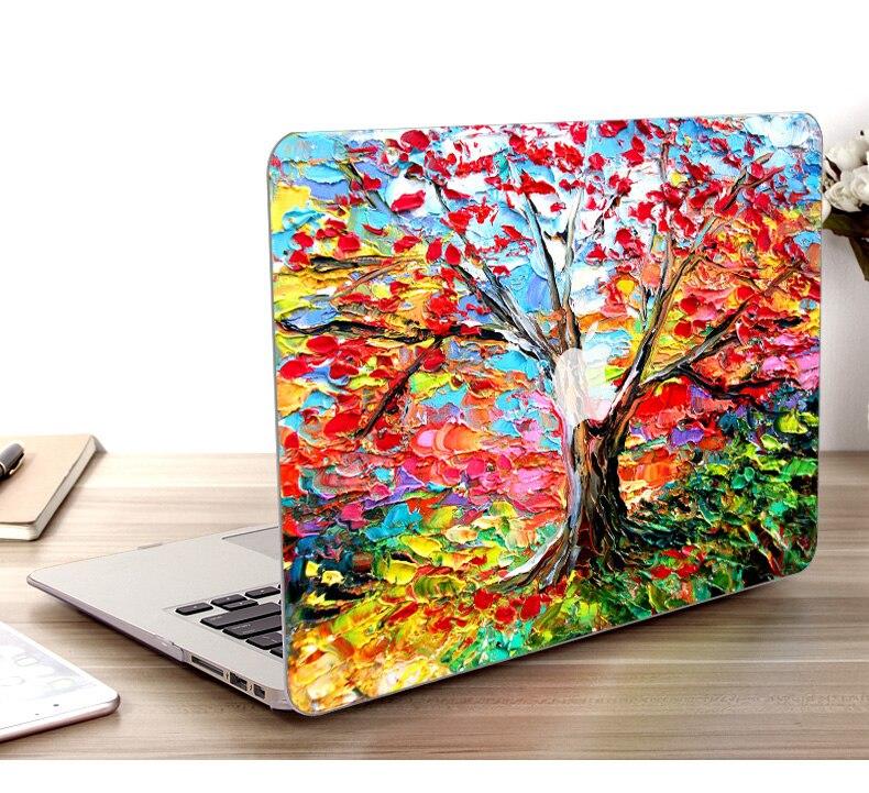 """Funda carcasa rígida de plástico con pintura al óleo para Apple Macbook Pro 13,3 """"Pro (CD-Rom con versión) funda para ordenador portátil A1278/MD101/MD102"""