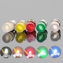 10 sztuk kolorowe diody led żarówka wkręcana E5 E5.5 12 V-14 V Spur H0/TT/N skala nowy E502 1/35 model pociągu modelowanie kolejowe
