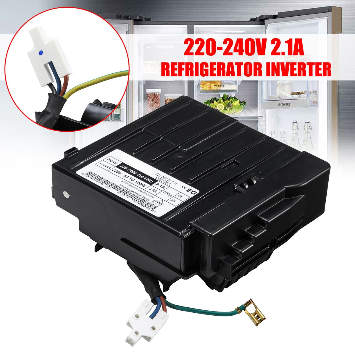 220-240V 2.1A 3PH VCC3 2456 07 Controle inverter Board Para Haier Inversor Geladeira para Geladeira Siemens Inversor