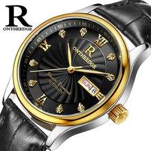 Marque de luxe célèbre hommes Original design horloge mode loisirs robe Quartz heures affaires en cuir montre mâle Relogio Masculino