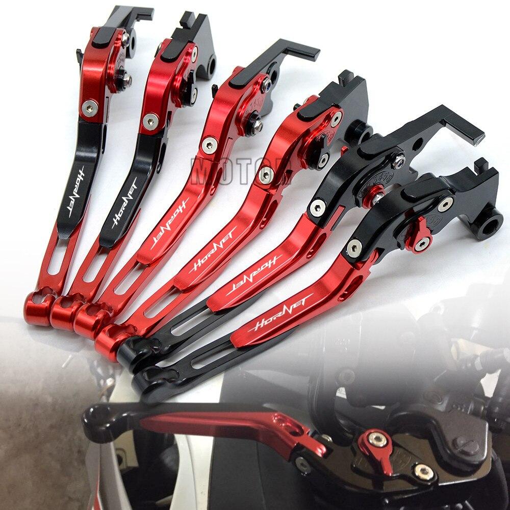 Palancas de embrague de freno CNC para motocicleta para Honda Hornet 250 CB599 CB600 CB900F Hornet/ CB919 ajustable plegable CB 599 600 900 919 F