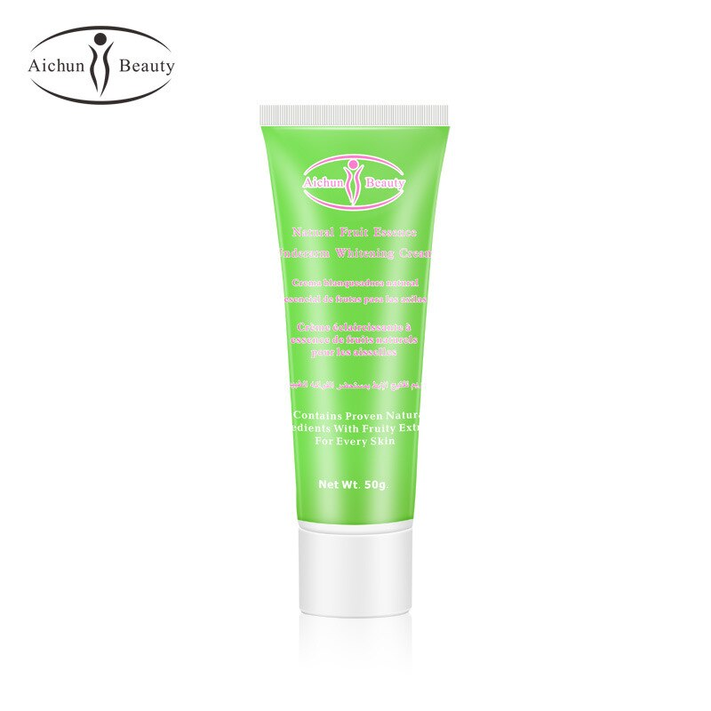 50g Aichun crema blanqueadora cuerpo piel oscura axila rodilla aligeramiento Bikini axila muslo interior caliente alta calidad crema corporal