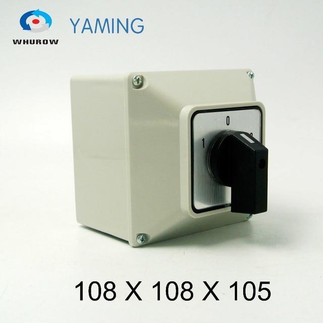 Yaming elektrische YMW26-32/3M Umstellung cam rotary switch knob 32A 3 phasen 3 position mit wasserdichte box IP65 interruptor