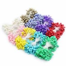 70 قطعة 5 مللي متر خيارات متعددة الألوان مزدوجة أطراف زهرة اللؤلؤ السداة لديي وتزيين الكيك C1302