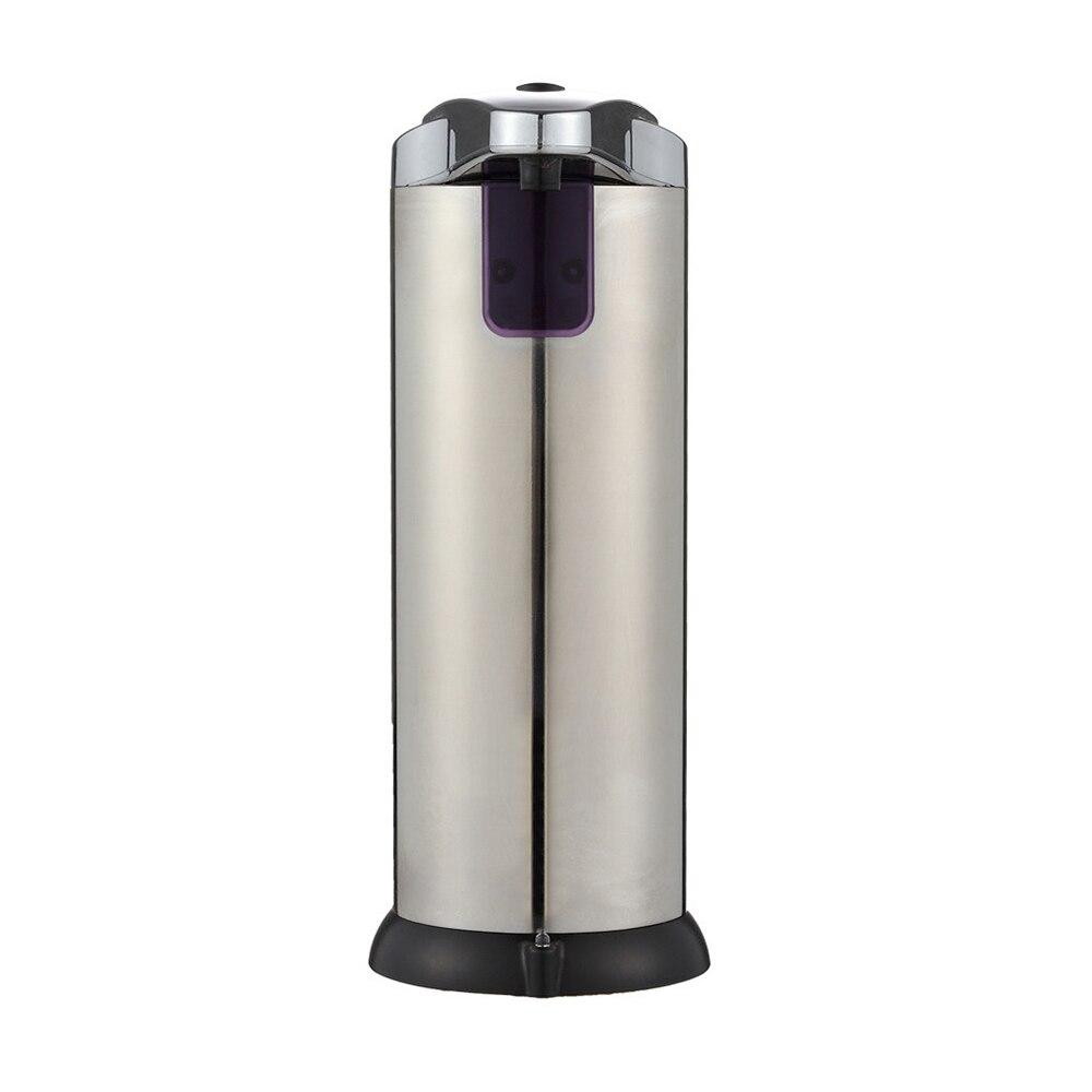موزع صابون أوتوماتيكي 210 مللي ، جهاز استشعار ذكي من الفولاذ المقاوم للصدأ ، بدون تلامس ، لبطارية الحمام