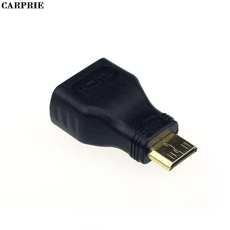 CARPRIE Mini HDMI macho tipo C A hembra tipo A Adaptador conector para 1080p 3D TV Extender 1080P HDTV Cable estándar Drop Ship