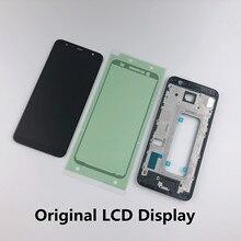 Original pour Samsung Galaxy J6 Plus 2018 J6 + J610 J610F écran tactile LCD + boîtier couvercle du cadre avant + adhésif