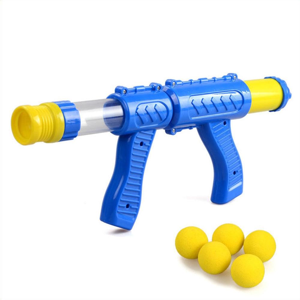 Air Powered Children Interactive Aerodynamic Gun EVA Soft Bullet Air Shoot Gun Desktop Indoor Outdoor Shooting Game for Kids
