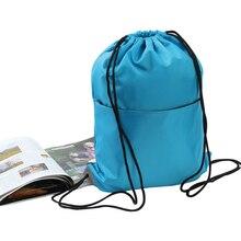 Randonnée en plein air Camping Portable sac à cordon sac de sport sac à dos sac à dos Cinch Sports de plein air Fitness entraînement