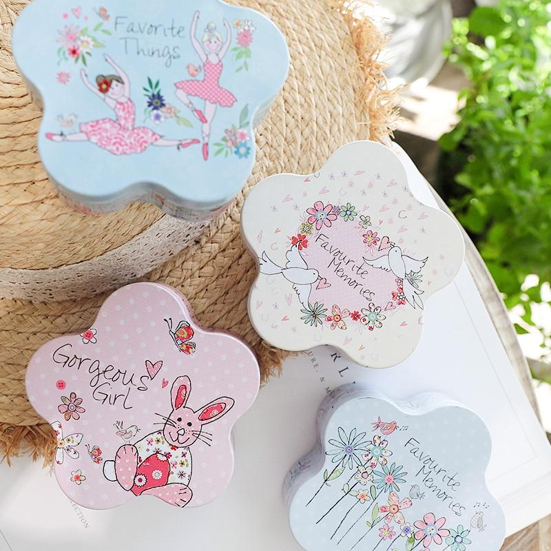 Colorful Cherry Shape Mini Cute Cartoon 10 x 10 x 4cm Candy Pill Lipstick Tin Storage Coin Box Wedding Party Candy Gift Tin Box