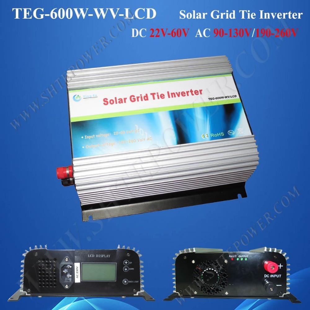 Inversor de energía solar de 600w con conexión a red dc 48v a ac 240v pv inversores solares