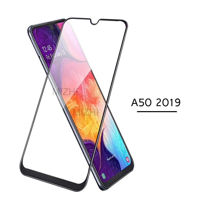 Cubierta completa para samsung a50 2019 protector de pantalla vidrio templado para samsung galaxy a50 a 50 50a a505f 6,4 pulgadas película de seguridad