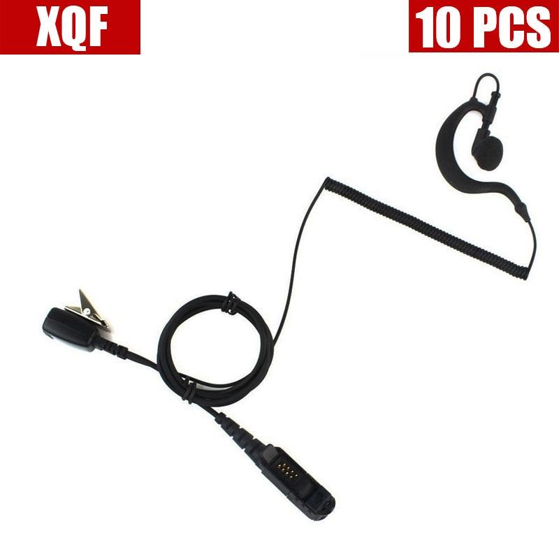 XQF 10 шт. PTT наушник для Motorola Radio XPR3300 XPR3500 XIR P6620 XIR P6600 E8600