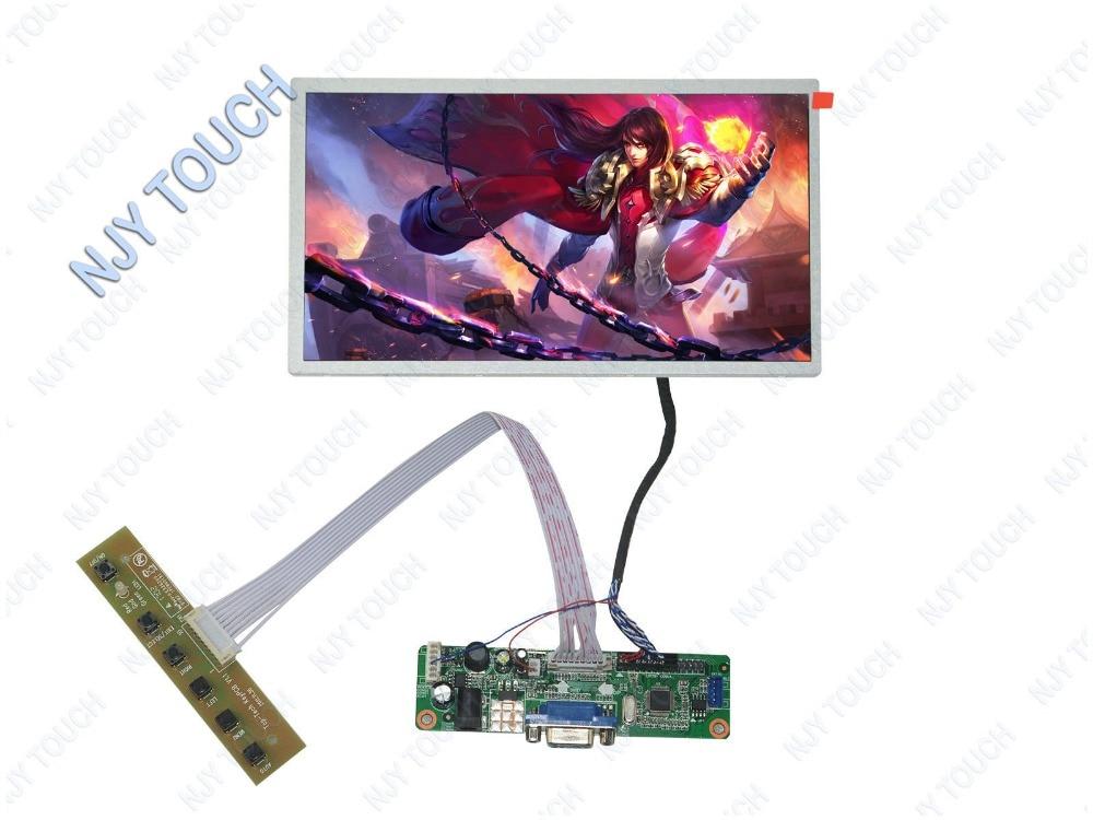 VGA placa controladora LCD DIY Kit de HSD100IFW1-A00 1024x600 30Pin LED Panel de pantalla