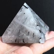 4-5cm NATURAL RARE  Tourmaline QUARTZ CRYSTAL pyramid HEALING