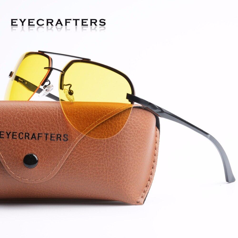 Gafas de sol polarizadas HD de aluminio para hombre, gafas de sol antideslumbrantes para conducción nocturna, gafas de sol para conductor