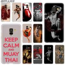 Housse Silicone étui pour Samsung Galaxy A6 A8 A9 A7 A5 A3 Plus 2018 2017 2016 2015 A71 Star grant Muay Thai combat boxe