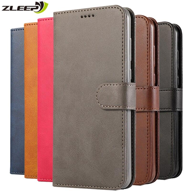 Flip Business Vintage Case Leather Wallet For Samsung Galaxy J3 J5 J7 2017 EU J4 Plus J6 2018 Card Holder Phone Cover Coque Etui
