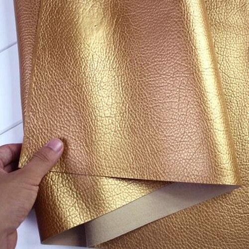 Dourado, couro falso, costura de tecido de couro do plutônio, couro artificial para material de saco diy, vendido pelo quintal, frete grátis!!!