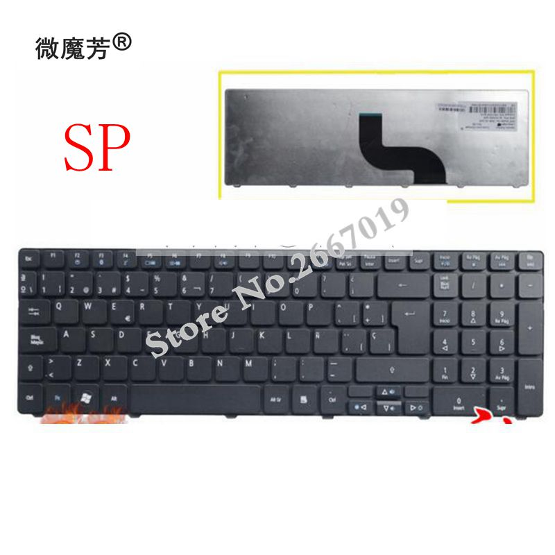 Spanish keyboard for Packard Bell Easynote TE69 TE69KB TE69HW LE69KB TE69BMP TE69CX TE69CXP TE69HW MS2384 Laptop SP keyboard