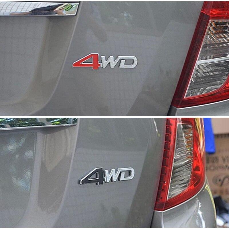3D 4WD 4x4 de la etiqueta engomada del Metal para protector antipolvo para Renault Megane 2 3 Logan Captur Laguna kia rio k2 Sportage 2017 Cerato Sorento Accesorios