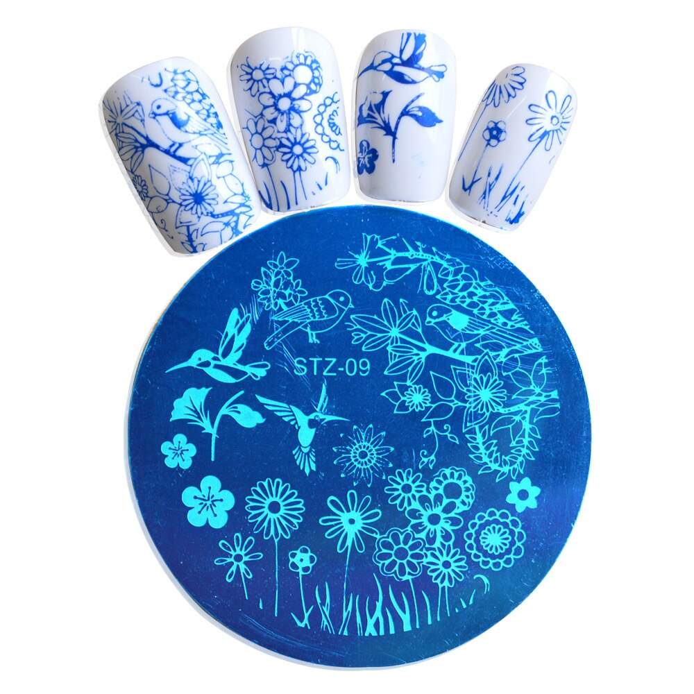 1pc Charming Spring DIY Polish Beauty Nail Art Image Stamp Stamping Plates 3D Nail Art Templates Stencils Manicure Tool JISTZA09