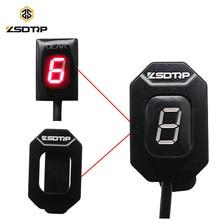 ZSDTRP indicateur de vitesse de moto   Pour Honda Harley Kawasaki Yamaha Suzuki Ecu montage du connecteur, affichage de vitesse, niveau 1-6 avec support