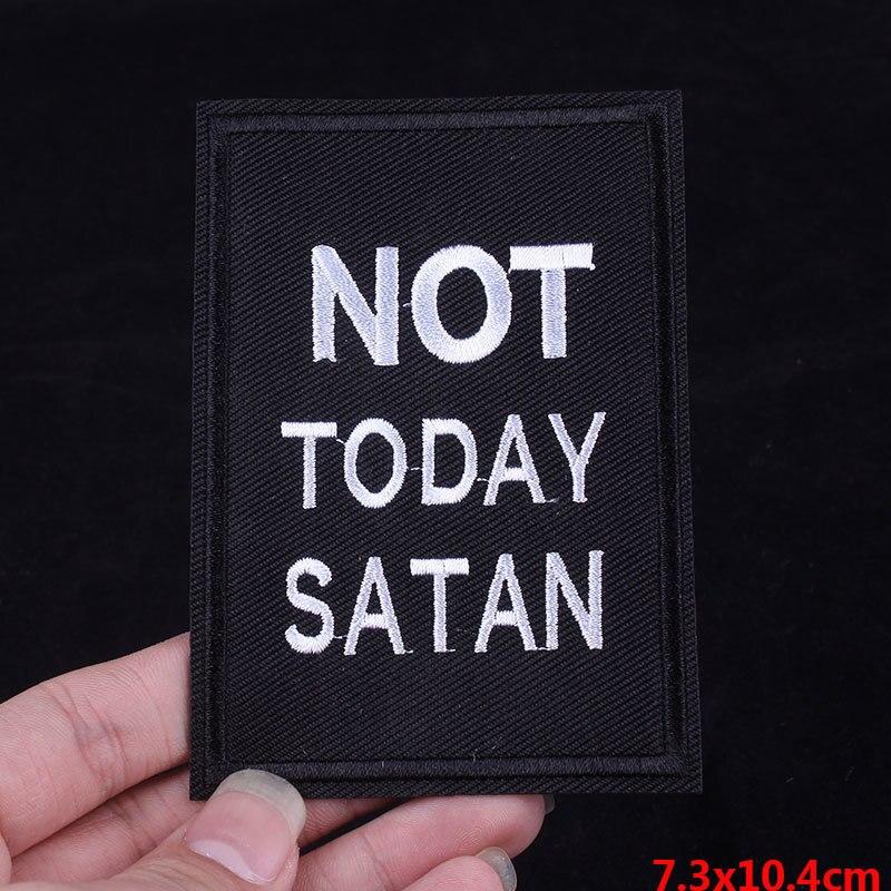 Parches bordados Pulaqi Hoy no Satanás para planchar ropa F