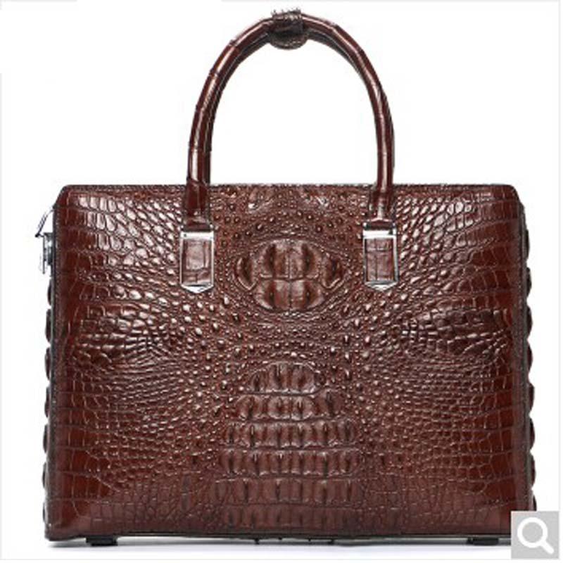 luodungongniu new Business male Briefcase man crocodile leather business Password lock men crocodile handbag leisure bag