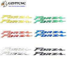 """Naklejki 3D boczne naklejki na zbiornik paliwa ozdobna pokrywka """"Forza"""" Logo nadwozie motocykla naklejki dekoracyjne do Honda Forza 300 250 125"""
